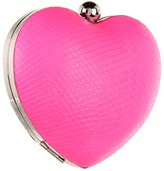 BCBGeneration Nadia Snake Emboss Crush Bag (Neon Pink Black) - Bags and Luggage