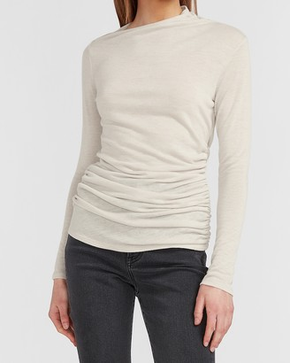Express X You Ruched Long Sleeve Tee