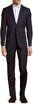 Saks Fifth Avenue Trim-Fit Wool & Silk-Blend Suit