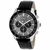 HUGO BOSS Ikon 1513177 Men's Black Leather and Stainless Steel Chronograph Watch