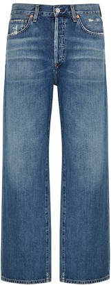 Citizens of Humanity Joanna blue wide-leg jeans
