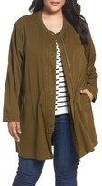 Sejour Plus Size Women's Long Utility Jacket