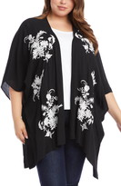 Karen Kane Embroidered Floral Open Front Jacket