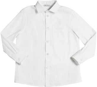 Dolce & Gabbana Jersey & Cotton Poplin Shirt