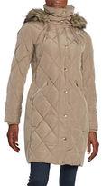 MICHAEL Michael Kors Faux Fur-Trimmed Quilted Down Coat