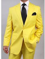 Ferrecci Ferrecci's Men's Yellow Two-Piece Two-Button Suit