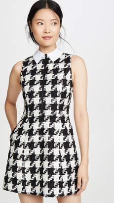 Alice + Olivia Ellis Gathered Zip Front Dress