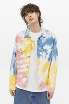 Levi's Haight Surfer Tie-Dye Denim Trucker Jacket - White S at Urban Outfitters