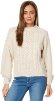 Rusty Soft Spot Womens Crew Neck Knit Natural