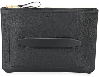 Tom Ford embossed logo clutch