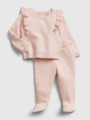 Gap Baby Ruffle Sweater Outfit Set