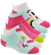 Stride Rite Girls' 6-Pack Magic Morgan No Show Socks
