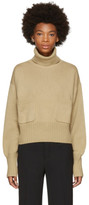 Chloé Brown Cashmere Pocket Turtleneck