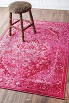 nuLoom 200MCGZ01B-8010 Traditional Vintage Inspired Overdyed Fancy Multi Rug (8-Feet X 10-Feet)
