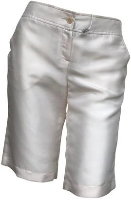 M Missoni White Silk Shorts for Women Vintage