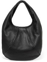 Bottega Veneta Hobo Large Textured-leather Shoulder Bag - Black