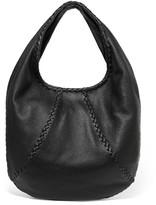 Bottega Veneta Hobo Large Textured-leather Shoulder Bag - Black