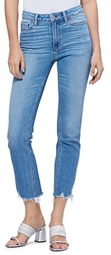Paige Cindy Straight-Leg Ankle Jeans in Mel with Destroyed Hems