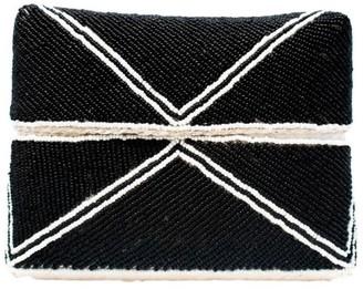 Poppy + Sage Macy Beaded Clutch - Black White