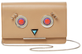 Fendi Faces Leather Wallet On A Chain