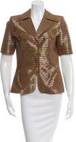 Christian Lacroix Short Sleeve Striped Jacket
