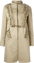 Ermanno Scervino pleat detail coat - women - Cotton/Polyamide/Spandex/Elastane/Lyocell - 38