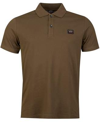 BEIGE Paul And Shark Short Sleeved Pique Polo Shirt Colour: BEIGE, Size: SMA