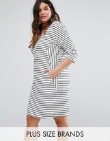Junarose Organic Cotton Stripe Shift Dress