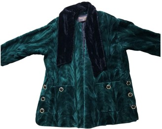 Saint Laurent Green Mink Coat for Women Vintage