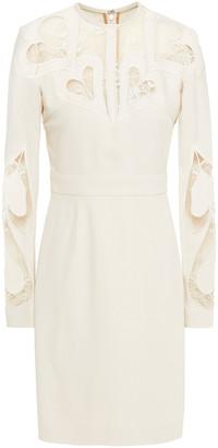 Elie Saab Lace-paneled Crepe Dress
