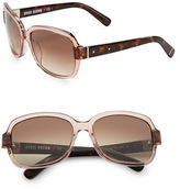 Bobbi Brown The Evelyns 56mm Square Sunglasses
