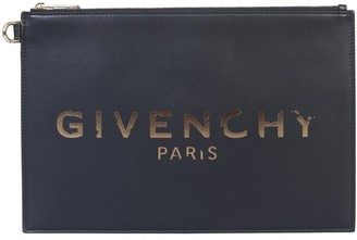 Givenchy Logo Zip-Up Clutch Bag
