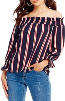 Gianni Bini Cher Off the Shoulder Strip Blouse
