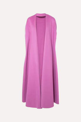 Valentino Wool And Cashmere-blend Cape - Pink