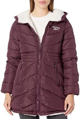 Reebok Women's Ladies 100% Poly Woven 600MM PU Coated WR Jacket Outerwear