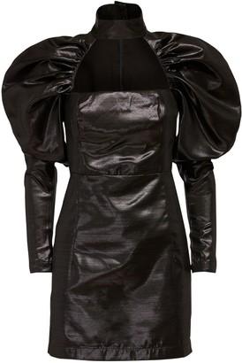 Rotate by Birger Christensen Kaya Mini Dress W/ Puff Sleeves