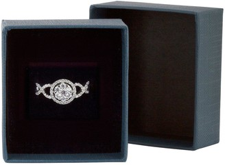 Sterling Silver Cubic ZirconiaCluster Ornate Ring