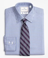 Brooks Brothers Luxury Collection Milano Slim-Fit Dress Shirt, Franklin Spread Collar Fine Gingham