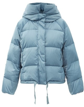 Holden - Hooded Quilted Down Jacket - Light Blue