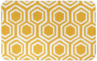Designs Direct Creative Group Yellow Honeycomb 34x21 Bath Mat