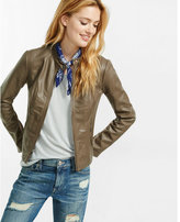 Express taupe double peplum (Minus the) leather jacket
