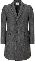 Jigsaw Herringbone Wool Coat, Grey