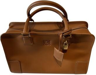 Loewe Amazona Camel Leather Handbags