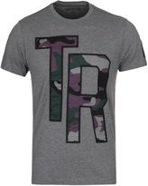 True Religion Camo Applique Grey Marl Crew Neck T-shirt