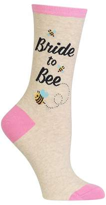 Hot Sox Bride To Bee Crew Socks