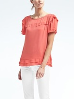 Banana Republic Easy Care Layer-Sleeve Top