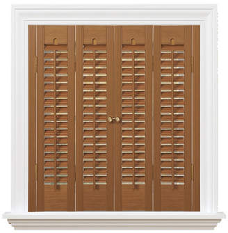 """Traditional Faux Wood Interior Shutter, 35-37"""" W x 28"""""""