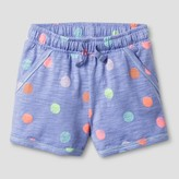 Cat & Jack Toddler Girls' Pull-On Polka Dot Shorts Cat & Jack - Periwinkle