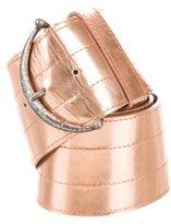 CNC Costume National Metallic Waist Belt