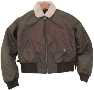 Eleven Paris Khaki Suede Leather Jacket for Women